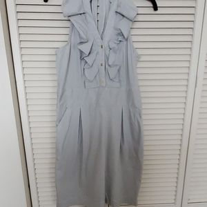 EXPRESS DESIGN STUDIO blue pin stripe dress